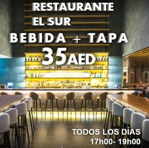 EL SUR restaurant BEBIDA TAPA HAPPY HOUR cc
