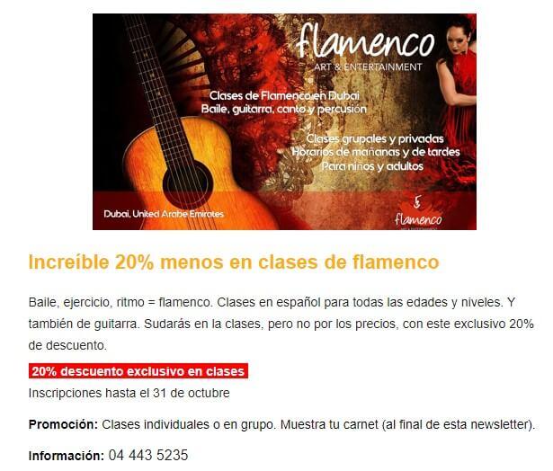 Flamenco oferta dubai
