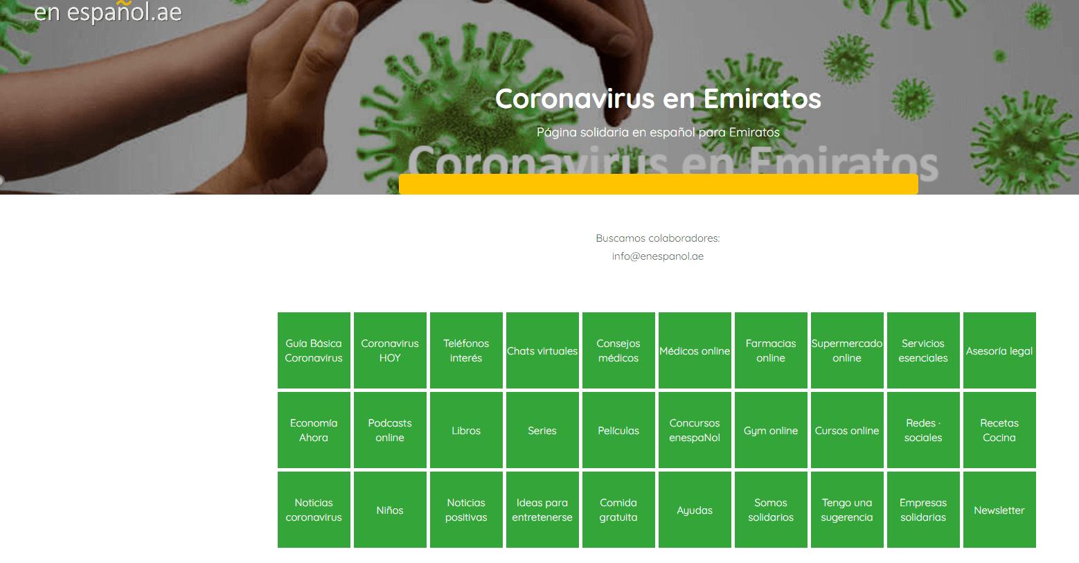 Español Coronavirus en Emiratos COVID 19