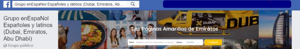 Grupo de Facebook españoles en dubai emiratos abu dhabi español espanol
